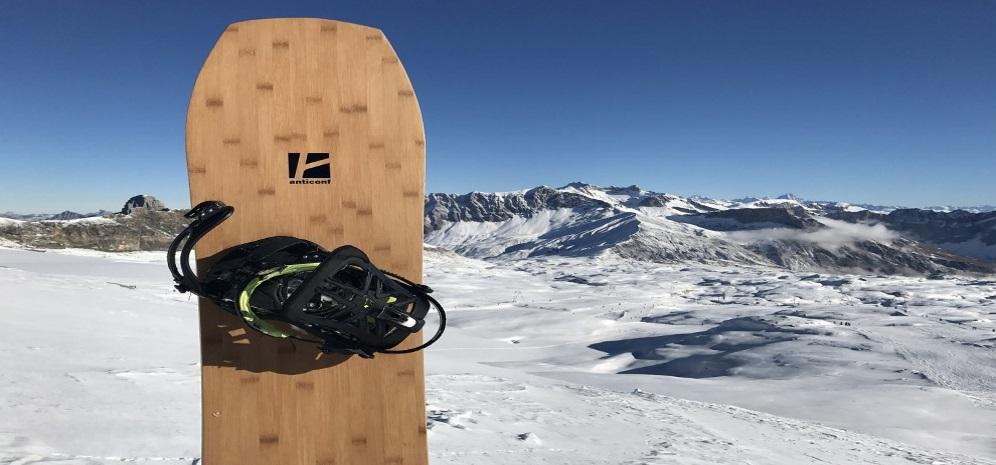 Prancha de snowboard em cortiça